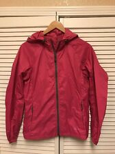 Eddie Bauer Womens Pink Hooded Light Rain Jacket Size Small Outdoor Layer Nylon
