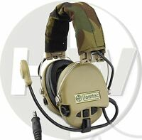 SOFTAIR TOY ZTACTICAL SORDIN HEADSET MIC BOOM RADIO MSA DESIGN WOODLAND TAN DE