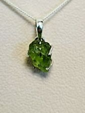 Silver 925 peridot green pendant necklace gift