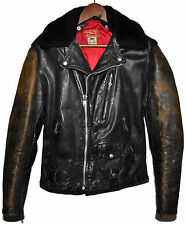 Vintage 1950s 50s INDIAN MOTORCYCLES Sportswear Leather Ranger Jacket Biker RARE