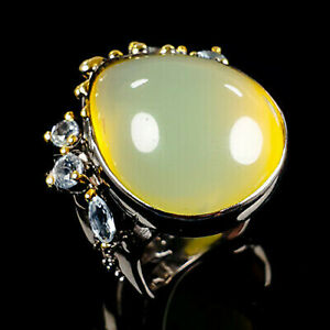 Ring Size 7  Natural Opal 925 Sterling Silver
