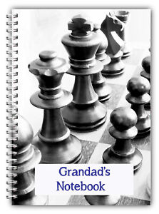 A5 CHESS PERSONALISED NOTEBOOK, NOTES BOOK, RULED BLANK 50 PAGE NOTEPAD GIFT 02