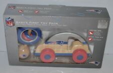 NEW ENGLAND PATRIOTS Baby's First Toy Pack, Rattle and Toy Car NFL Football