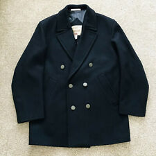 """Vintage Wool Mix Gloverall Mens Navy Pea Coat Size 25"""" P2P Size XL UK 40"""
