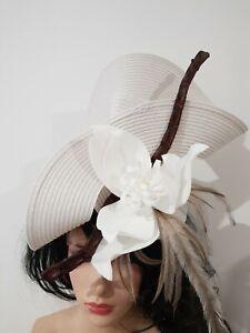 Fascinator hatinator hat races wedding costume formal crocodile leather