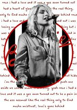 More details for debbie harry blondie wall art poster heart of glass lyrics unframed picture