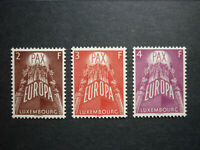 Luxemburg Luxembourg Europa CEPT 1957 Mi 572-574 **, PRACHT!! (KW: 200,00€)