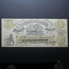 1861 $20 Female Riding Deer Bogus Note - Confederate Currency