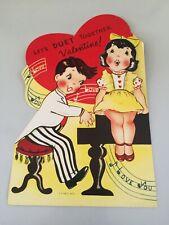Vintage Valentine Mechanical Head - Piano Music Singing - Large