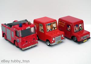 ERTL & CORGI POSTMAN PAT & FIREMAN SAM: VAN, BUS, FIRE ENGINE & GREENDALE ROCKET