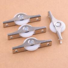 4pcs 25mm Nylon Wardrobe Sliding Shower Roller Pulley Cabinet Door Window Wheel