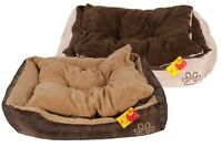 Hundebett M mit Kissen Hundekorb Hundesofa Hunde Katzen Tier Bett Katzenbett