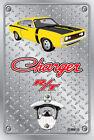 Pop A Top Wall Mount Bottle Opener Metal Sign - Hemi RT Charger Yellow