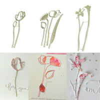 Flowers Metal Cutting Dies Stencil for DIY Scrapbooking Paper Card Cover Dec_ti