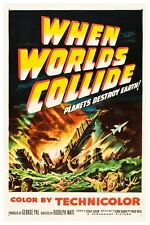 """VINTAGE - WHEN WORLDS COLLIDE MOVIE POSTER 12"""" x 18"""""""
