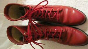 RED JUSTIN BOOTS Size 7.5 M