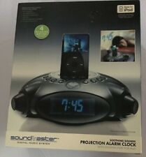 New Soundmaster Soothing Sounds Projection Alarm Clock