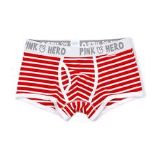 Hot Sale Men Sexy Cotton Underwear Boxer Underwear Striped Stretch Underpants