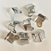 8 Pcs Chrome 2-Leg Metal Corners Case, Speaker Cabinet  Car, Home Furniture & DJ
