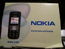 Nokia 1209 OVP SIMfrei Ladeteil Heft Taschenlampe super o.k. gebraucht Art.69 X