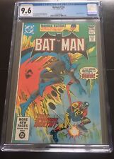 BATMAN 338 CGC 9.6 WHITE PAGES NEW CASE ROBIN BACKUP STORY