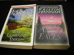 When Lightning Strikes + Angel Falls by Kristin Hannah   r