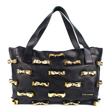 100% Authentic Marc Jacobs Soft Leather Capri Tote Shopper With 3D Gold Bows