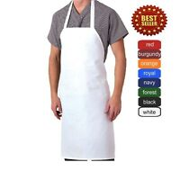 1 new spun poly craft / commercial restaurant kitchen bib aprons signal textile