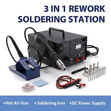 Power Supply 3 In 1 Soldering Rework Station 853d Solder Iron Smd Hot Air Gun Dc