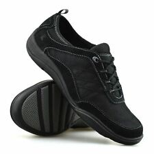Ladies Womens Leather Memory Foam Casual Walking Work Sports Trainers Shoes Size