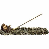 Kasa Style Prosperity Golden Buddha Coins Polyresin Incense Holder Burner