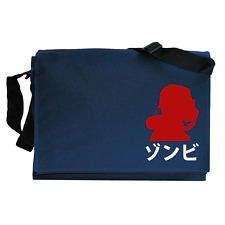 Amanecer de los muertos Zombie japonés máscara de gas Azul Marino Mensajero Bolso de hombro