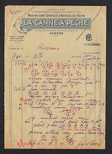 """ANGERS (49) USINE d'ARTICLES DE PECHE """"LA CANNE à PECHE"""" en 1930"""