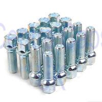 20 x alloy wheel bolts nuts lugs M14 x 1.5 17mm Hex 30mm thread Radius seat Audi
