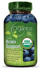 Irwin Organics Organic Brain Support Ginkgo Ginseng Blueberry Grape Seed 60 Tabs