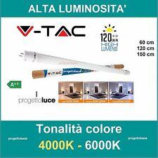 TUBO NEON LED V-Tac Tubo G13 T8 60 120 150 cm ALTA LUMINOSITA' 120 LM/watt