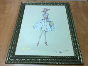"""Robert Best BARBIE Collection Framed Signed Print 1586 of 3000 overall 19"""" x 23"""""""