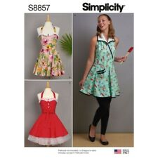Simplicity Sewing Pattern 8857 Misses Vintage Rockabilly Inspired Aprons