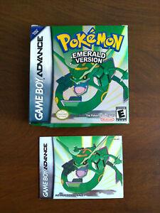 Nintendo Game Boy Advance Pokemon Emerald Version Original BOX ONLY + Booklet