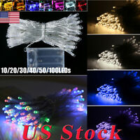US 10-100 Lights LED String Lights Battery Operated Fairy LED Lights Waterproof