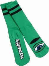 Toy Machine Sect Eye Iii Crew Socks Kelly Green 1 Pair