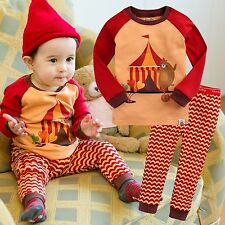 "Vaenait Baby Toddler Kids Girls Boys Clothes Sleep Pajama Set ""Joy Dobhe"" 12M-7T"