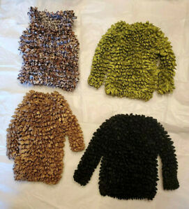 Lot 4 Popcorn Super Stretchy Shirt Top One Size Fit all 3 longer sleeve 1 tank