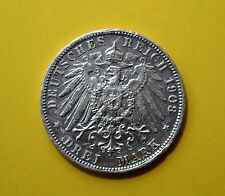 Germany (Prussia) 1908-A 3 Mark, silver coin          [#6803]