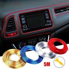 5m Chrome Red Car Grille Interior Exterior Decoration Moulding Trim Strip