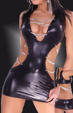 PVC FANCY DRESS Clubwear Womens Sexy Lingerie Basque Outfit G-String 745 8-12