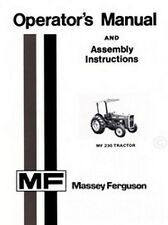 Massey Ferguson MF230 MF-230 Tractor Owner Operators Assembly Instruction Manual