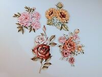 8 x Crafters Companion : 3d Decoupage Charisma Flower Toppers