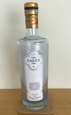 EMPTY THE LAKES GIN BLUE GLASS BOTTLE UPCYCLE CRAFT COLLECTABLE