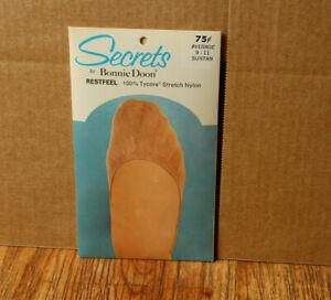 Vintage Secrets by Bonnie Doon Foot Liners Restfeel Average 9-11 Suntan